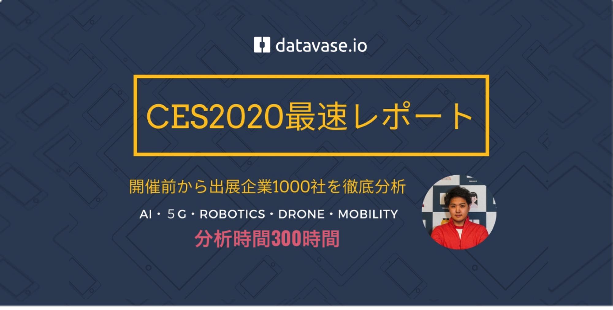 【参加者必見】CES2020史上最速分析レポート・注目企業一挙公開します。